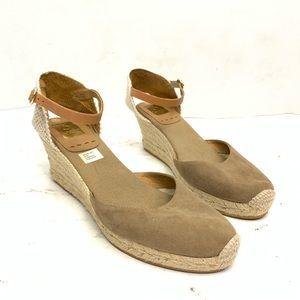 Kanna Nude Espadrille Wedge Ankle Strap Sandal